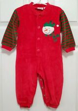 Infant Long Sleeve Romper Jumper size 9-12 months Christmas Brushed Cotton Avon