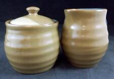 Sango GOLD DUST GREEN Creamer & Sugar Bowl with Lid 5040 GREAT CONDITION