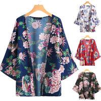 Mode Femme Cardigans Loisir Manche 3/4 Imprimé Floral  Plage Vacances Haut Plus
