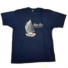 New listing Vintage Cape Cod Sail Boat T-shirt Mens X-Large Single Stitch 70s 80s Rare Blue