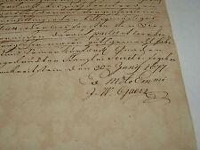 Antikes Dokument gez. 30. Juni 1677 Handschrift viele Bilder im Text.