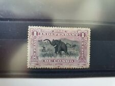 Belgian Congo 1894 1f African elephant, hinged mint, toning