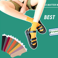 1 Pair Solid Women Middle Tube Socks Breathable Casual Thin Candy Color