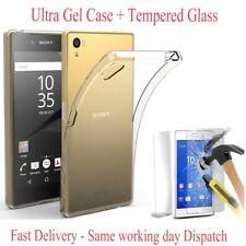 Pour Sony Xperia Z X Xa Ultra Thin Soft Silicone Case Gel Housse + verre trempé