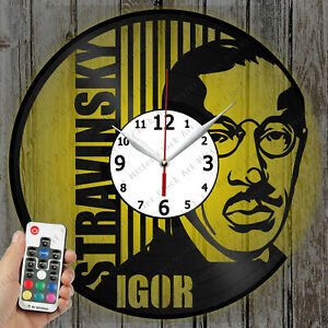 LED Clock Igor Stravinsky Vinyl Record Clock Art Decor Original Gift 4534