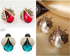 Simulated Diamond/Crystal Ladybird/Animal Stud Earring/Pearl/RGE042/275/262