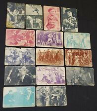 1920's - COWBOY - WESTERN - MOVIE STARS - ARCADE EXHIBIT CARDS (15) - ORIGINAL
