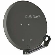 42 cm ALU SAT Spiegel Antenne Schüssel für Camping Bakon Mobil HD 4K Anthrazit