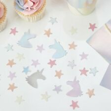 Iridescent Unicorn & Star Table Confetti Scatter Birthday Party Table Decoration