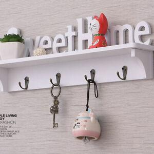 Key Rack Holder Wall Organizer Mount Hanger Home Letter Hooks Storage HookJ'Z8