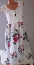 ITALY schöne Sommer Kleid,Strandkleid,Tunika,Kleid,Netz,Blumen,Gr.44,46,48,Neu