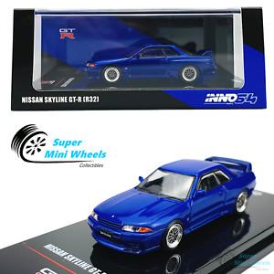 INNO64 1:64 Nissan Skyline GT-R R32 (Blue) w/ Extra wheels & Extra Sticker