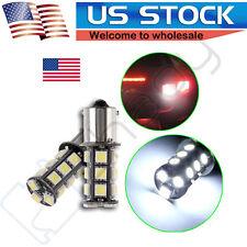 2PCS 1156 7506 1141 5050 18SMD LED Brake Light Bulbs Interior RV Camper White