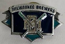 MILWAUKEE BREWERS CrossedBat Siskiyou Fine Pewter Lapel Pin Tac New Baseball MLB
