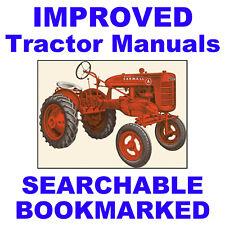 IH Farmall A AV SERVICE MANUAL Operator PARTS -3- MANUALS SEARCHABLE Tractor Set