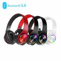XGODY Kopfhörer Bluetooth Wireless HD Stereo Headset Faltbare On-Ear mit Mic FM