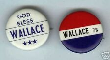 1 vintage GEORGE WALLACE third party pin RWB ( ONLY ONE pinback )