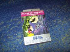 Game Gear * Castle of Illusion mickey mouse Neuw coleccionista OVP con manual