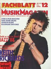 Fachblatt Dezember 1988 -Keith RICHARDS- Michelle Shocked, Steve Vai, Otari,...