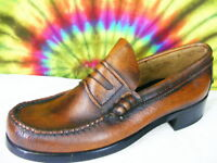 10.5 mens vtg DEXTER brown leather penny loafers shoes