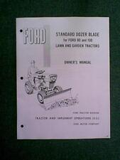 FORD 80 100 TRACTOR DOZER SNOW BLADE OWNERS MANUAL 9469