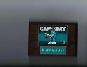 BLAINE GABBERT PLAQUE JACKSONVILLE JAGUARS FOOTBALL NFL   C