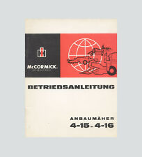 IHC International 4-15  4-16 Anbaumäher 323 423  523  624 Betriebsanleitung 1966
