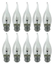 10x 40W Bent Tip Flame Candle BC B22 Bayonet Chandelier Light Bulb Lamp