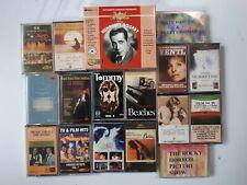 20 RARE Bulk Music Cassette Tapes OF HOLLYWOOD, T.V. & BROADWAY
