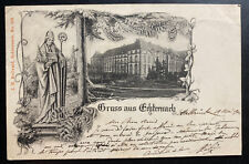 1901 Luxembourg Picture postcard Cover To PAris France City Greetings
