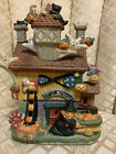 1990's Hand painted porcelain lighted haunted house
