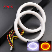 2pcs Halo Ring For 90mm OD Car Headlight Angle Eyes DRL Turn Signal White Yellow