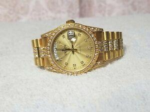 Swiss Croton Bellagio Day Date Automatic Watch CZ President ETA 2834 18038 1803