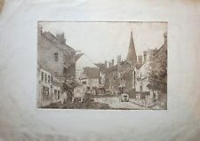 Etching by Cecil Tatton-Winter (1895-1954) . Possibly Reigate & St Marks Church