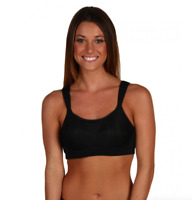 Moving Comfort Black Luna Sports Bra Women's Size 36DD 4308