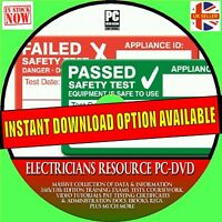 ELECTRICIANS 17/18th EDITION TRAINING GUIDE REGS PAT TESTING FORMS LABELS PC DVD