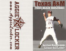 2004 TEXAS A & M AGGIE BASEBALL POCKET SCHEDULE - UNFOLDED