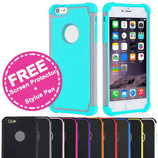 Shockproof Armor Tough Case Gel Cover for Apple iPhone 7 6s Plus 6 SE 5s 5 4s 4