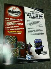 Global VR & EA Sports MADDEN FOOTBALL Arcade Video Game flyer- good original
