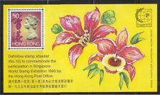 HONG KONG 1995 SINGAPORE WORLD STAMP EXHIBITION SHEETLET NO. 10 SC#724 MINT MNH