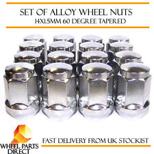 Alloy Wheel Nuts (16) 14x1.5 Bolts Tapered for SsangYong Rexton [Mk2] 06-12