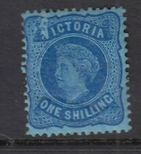 Victoria 1877 1s Dp Blue-Blue SG180b Mounted Mint - Cat £150