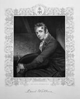 ROYAL PORTRAIT GENRE PAINTER ARTIS SIR DAVID WILKIE ~ 1846 Art Print Engraving