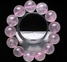18mm Natural Rose Quartz Crystal Gemstone Bangle Bracelet Jewelry Madagascar