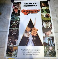 A Clockwork Orange Stanley Kubrick UK Oversized Original Rare Movie Poster