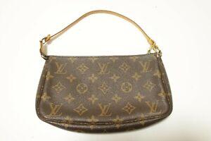 Authentic Louis Vuitton Monogram Pochette Accessories Pouch Bag  #8935