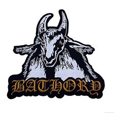 """BATHORY BACK PATCH EMBROIDERED BLACK METAL BAND SEW OR IRON ON SIZE 10x10"""""""