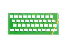Oberseite Faceplate GRÜN aus Metall für Sinclair ZX Spectrum 16/48k Tastatur