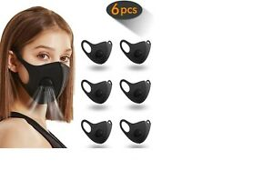 6 Pack Face Masks, Mask with Breathing Valve, Skin-friendly Unisex Mou
