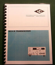 "National Ncl-2000 Instruction Manual: 11""X17"" Foldout Schematic & Plastic Covers"